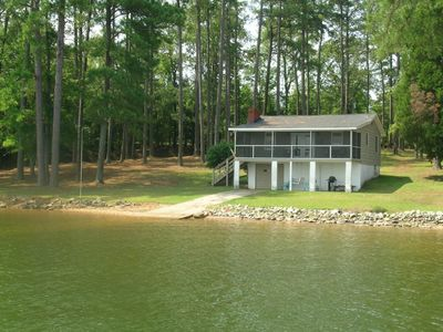 Photo for NEW LISTING! Lakefront home on a large lot, dock, views, dog-friendly too!