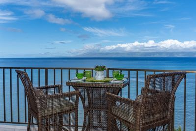 Stunning panoramic ocean views from your private lanai