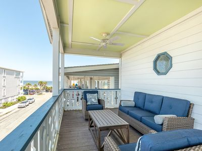 Photo for Pet Friendly Ocean View Condo, Steps to Pier and Beach, with 3 Parking Spaces and Elevator