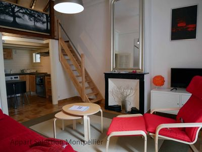 Photo for Montpellier city apartment with 1bedroom mezzanine sleeps 2