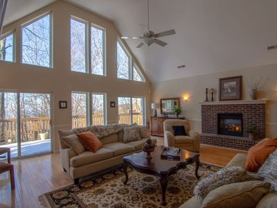 Photo for 4BR/3BA Beech Mountain Home with Pool Table, Close to Ski Resort, Fireplace, Great Space for Hosting