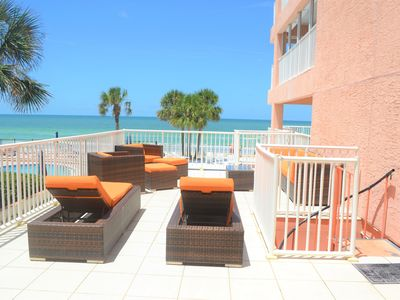Photo for Unique Beach Oceanfront 4 bedroom Condo with oversized Patio