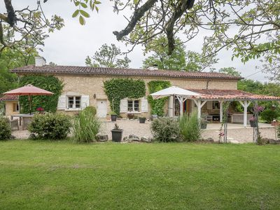 Photo for Stylish, authentic farmhouse with private swimming pool and magnificent view.