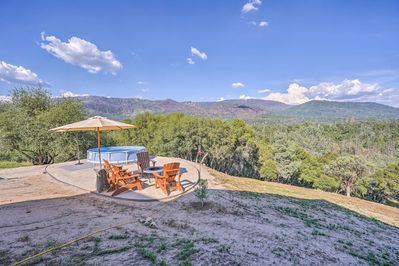 From the vacation rental's private pool, soak in the incredible Cali location!