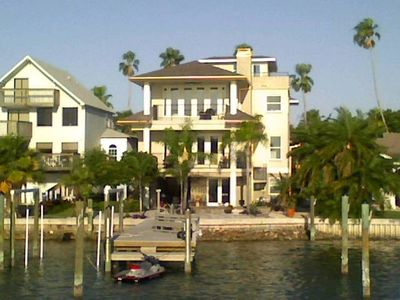 Rear view of house on Intracoastal Waterway