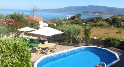 Photo for 5 star rated, vila with sea views, pool, FREE WI-FI, AC. Cost is all inclusive