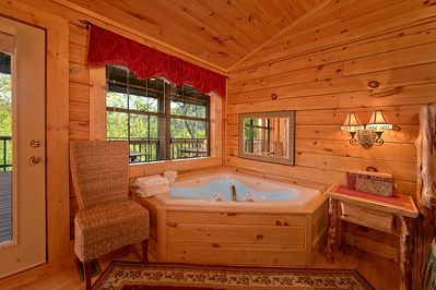Jacuzzi - This luxury cabin rental has everything your family or group of friends could ever ask for in a Smoky Mountain Resort Cabin. If you will be visiting Dollywood on your trip, this cabin has easy access to the #1 attraction in Tennessee.
