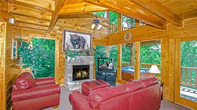 Photo for Just the Two of Us | Romantic & Secluded | Mountain Views of Wears Valley | Hot Tub | Game Room