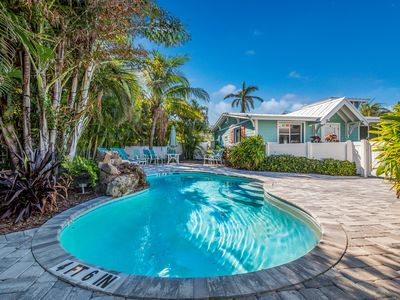 Photo for Sunset Villa D: Perfect Villa, 90 Seconds to Beach, Heated Pool and Tiki Bar!!!