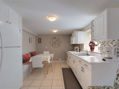 Photo for ☆ Cosy 3bdr suite with AC, HOT TUB & VALUE!