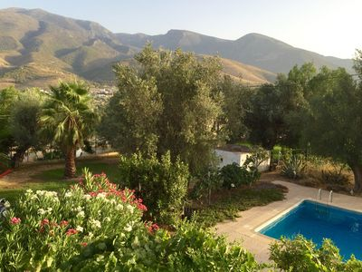 Photo for Tranquil, spacious cortijo, large private pool, mountain views