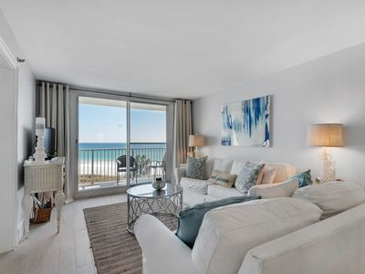 Photo for Amazing 5th Floor Condo! Gulf Front, Pool Onsite, Beach Access, Nearby Shopping & Dining!