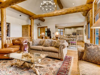 Photo for Short walk to the slopes from this luxury home on Peak 8; hot tub & billiards