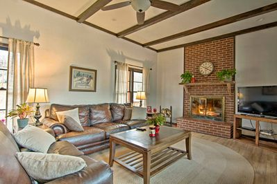 Stay just outside of Tulsa at this charming Sand Springs vacation rental home.
