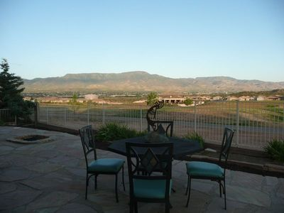 View of Mingus Mountains from patio