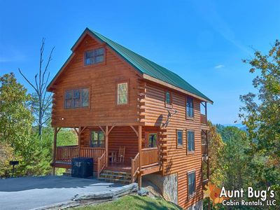 Photo for Wears Valley 3 Bedroom Cabin with Incredible Views, Hot Tub and Pool Table