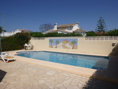 Photo for Bright 3 bedroom villa with a separate apartment., Private pool and BBQ
