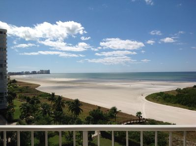 Balcony view of beach/Gulf of Mexico can be seen from both master and family rm