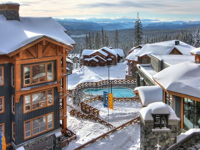 Photo for Ski-In Condo with Private Hot Tub | Equipped Kitchen, Pool Access + More!