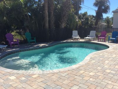 Photo for Amazing Pool/Tiki Bar/ Duplex 1/2 Block From The Beach, Near Times Square, Pier