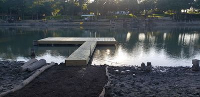our new temporary dock