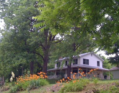 Photo for Riverfront Farmhouse in the Mountains! Fish, Tube, Kayak, Swim, Hike Right Here!