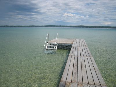 Crystal Clear Waters Of Torch Lake At Dock S End