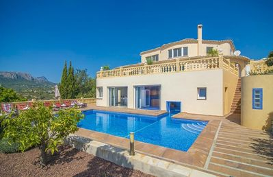 Photo for COMETA, villa in Calp with panoramic views for 8 guests, free wifi