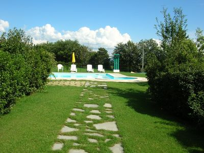Photo for A beautiful house with large pool, enclosed garden, tennis, AC, very spacious