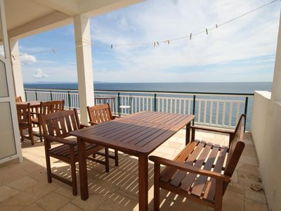 Photo for One bedroom apartment with terrace and sea view Milna (Hvar)