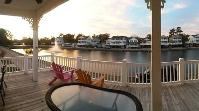 Photo for 5 BR Lakefront Beach House @ Ocean Lakes: FREE Golf Cart, Bikes & Waterpark!