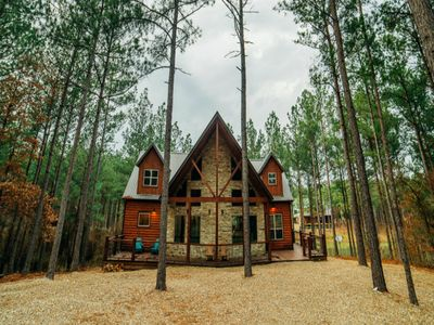 Photo for Lake View Hideaway is a  LUXURY vacation cabin  that features a Private dock.