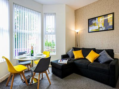 Photo for Ground Floor Apartment, Sleeps 5, with Parking, near Sefton Park