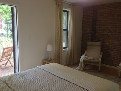 Photo for Hamilton Hts 1 bedroom guest suite with Garden View