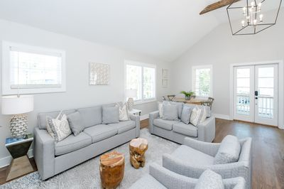 Open Living Space: Ample Seating/Queen Pull Out Sofa/Vaulted Ceilings