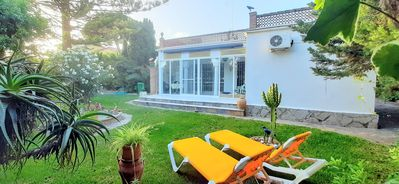 Photo for Beachside 2 bedroom Bungalow with private garden, 150 m to the beach!