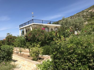 Photo for Mountain top Mediterranean Villa with Gulf of Corinth view!!