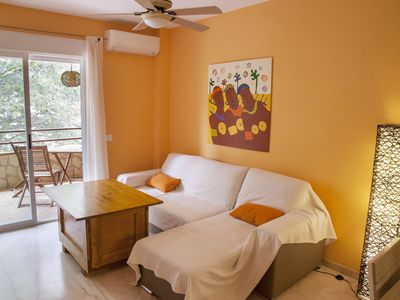 Photo for Charming apartment near the beach and in the center of town