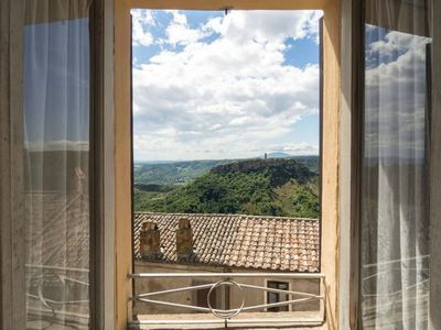 Photo for Apartment overlooking Civita di Bagnoregio
