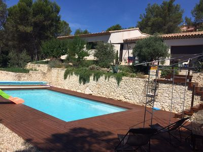 Photo for spacious villa & pool in a pine forest in Provence between Luberon and Alpilles