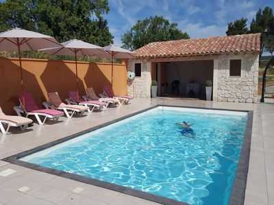 Photo for Charming cottage in the heart of the Corbières vineyards near the Mediterranean