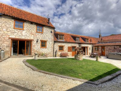 Photo for Sleeps 18 complex with private pub and hot tub - Please contact us for a price!