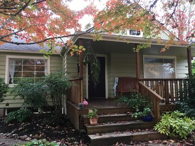 Photo for Cozy basement apartment 5 blocks from U of O! Great neighborhood!
