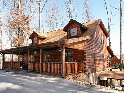 Photo for Breathtaking Log Cabin Sleeps Up To 14, Few Miles Off The Parkway Pigeon Forge