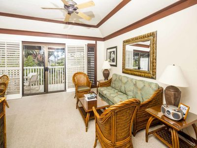 Photo for Roomy Lanai+Choice View! Kitchen Ease, WiFi, Ceiling Fans–Kiahuna Plantation #2067