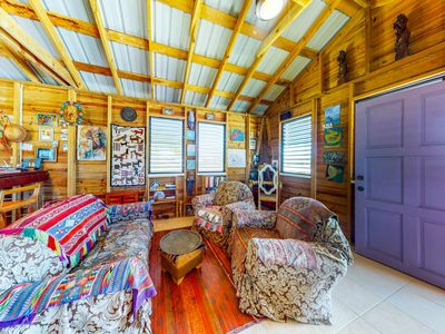 Photo for Breezy cabana with amazing water-front views & easy access to the beach!
