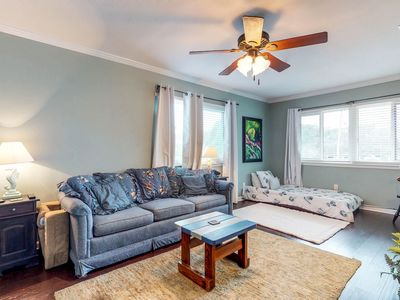 Photo for NEW LISTING! Gorgeous condo with sound views, shared pool, near shopping/dining!