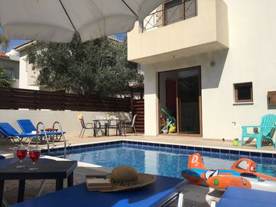 Photo for Beautiful 3 bedroom villa with poo near Grecian Park hotel