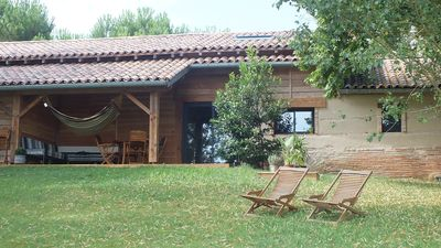 Photo for charming cottage, ecological, with sauna, swimming pool, in the countryside