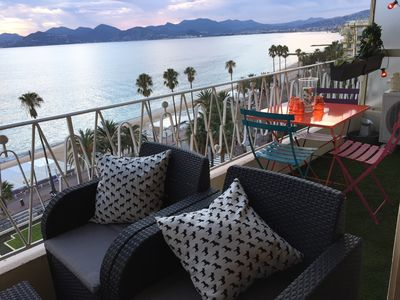 Photo for Newly renovated apartment by the sea Plage du Midi